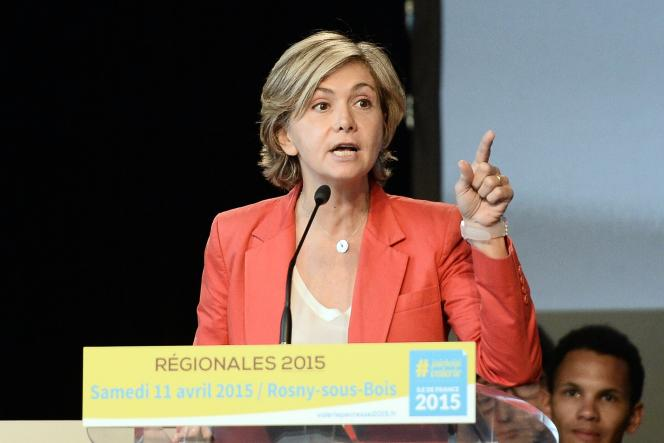 Valerie Pécresse lance sa campagne pour les régionales en Ile-de-France à Rosny-sous-Bois, le 11 avril.