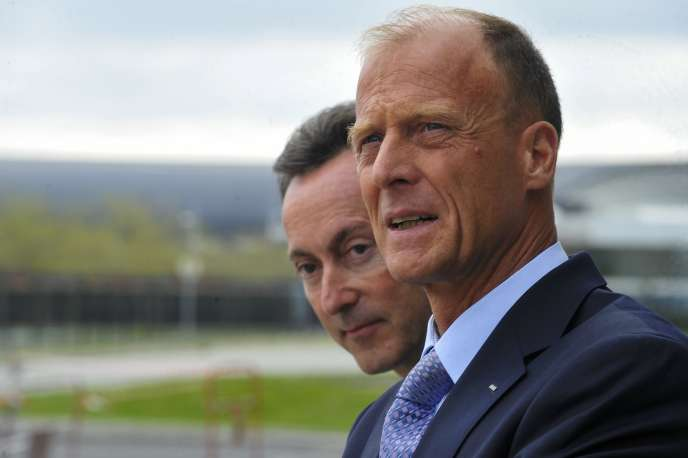 Le patron d'Airbus (à droite) Tom Enders estime que l'Europe doit s'inspirer de la réglementation américaine.
