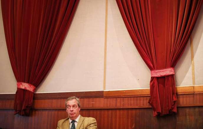 Nigel Farage, avant un meeting de campagne à Margate, le 11 avril.