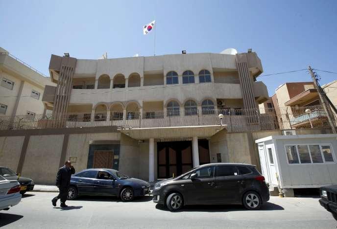 L'ambassade de Corée du Sud à Tripoli, le 12 avril.