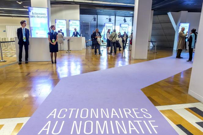 Assemblée générale des actionnaires de la société Air Liquide, en mai 2014, à Paris.