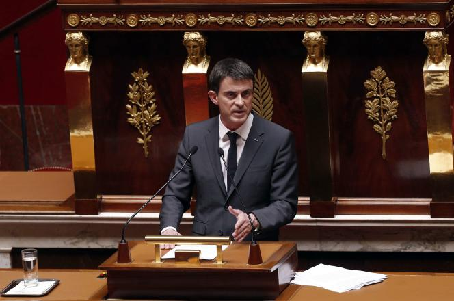 Manuel Valls à l'Assemblée nationale, le 13 avril.