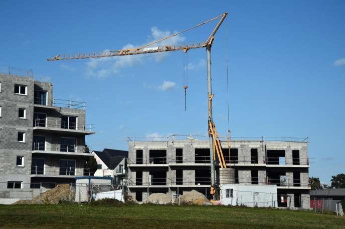 Un chantier de construction en Ille-et-Vilaine, octobre 2014.