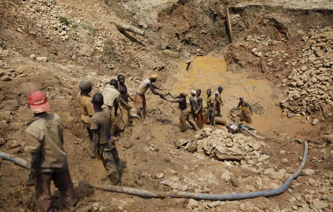 Mine d'or artisanale du district de l'Ituri, à l'est de la République démocratique du Congo.