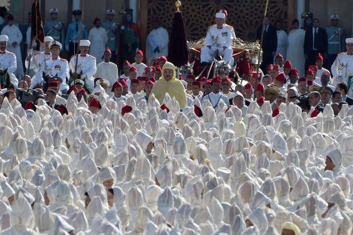 Une cérémonie d'allégeance au roi du Maroc, Mohammed VI, le 31 juillet 2014, à Rabat.