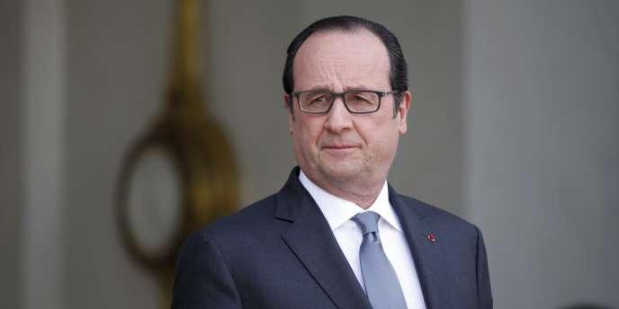 François Hollande, le 10avril à l'Elysée.