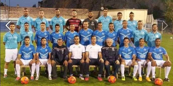 La photo de l'équipe du Stade beaucairois, publiée sur la page Facebook du club. DR