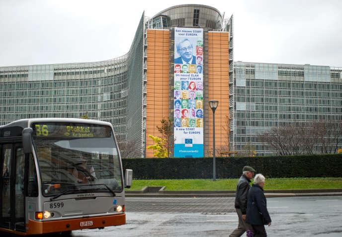 Le siège de la commission européenne, à Bruxelles, en décembre 2014