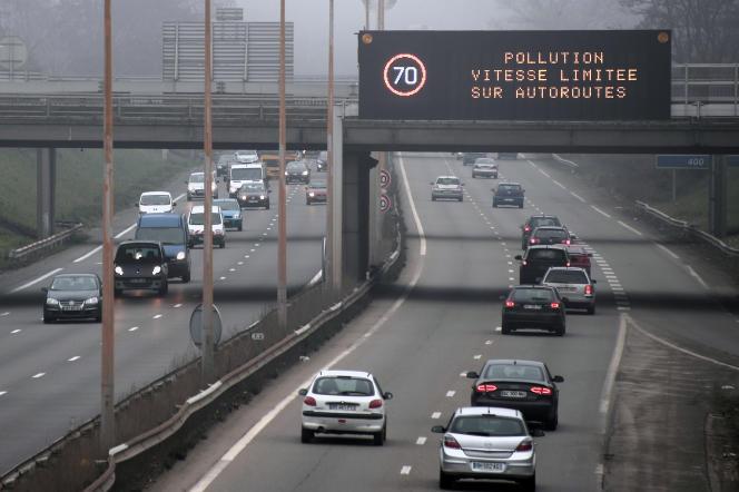 Un épisode de pollution de l'air à Strasbourg en décembre 2013.