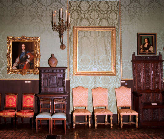 1990, au musée Gardner de Boston, un emplacement laissé vide par les voleurs de 13toiles de maître.