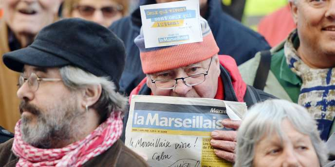 Manifestation de soutien à «La Marseillaise», le 7 avril.