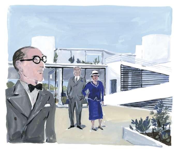 Pilotis, toit-terrasse, fenêtre en bandeau,  plan et façade libre... Pierre et Eugénie Savoye ont laissé Le Corbusier s'inspirer des préceptes de l'architecture moderne qu'il défendait.