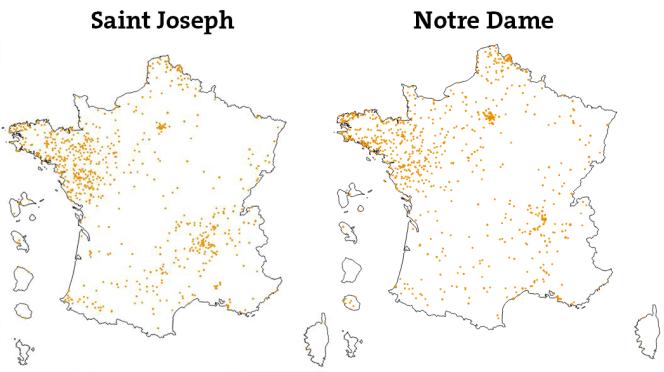Les établissements Saint Joseph et Notre Dame en France.