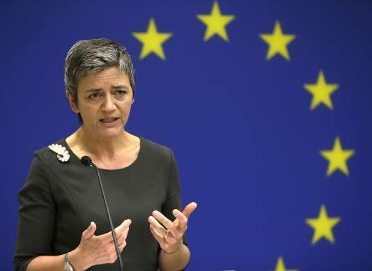 La démarche de la commissaire européenne à la concurrence, Margrethe Vestager, pourrait aboutir dans les mois qui viennent – après que Google aura eu la possibilité de présenter sa défense – à une amende conséquente.