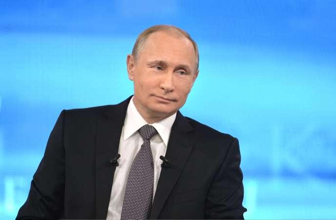 Le président russe Vladimir Poutine, a Moscou, en 2015.