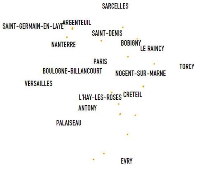 Les établissements Marcel Cachin dans la région parisienne.