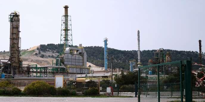 La raffinerie de Total à La Mède, dans les Bouches-du-Rhône, le 16 avril.