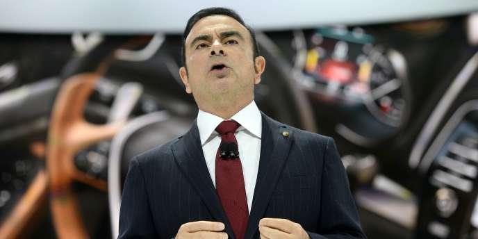 Carlos Ghosn lors d'une présentation Nissan en avril.