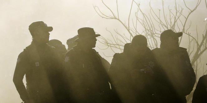 Des agents de la police mexicaine à Leon, le 7 mars.