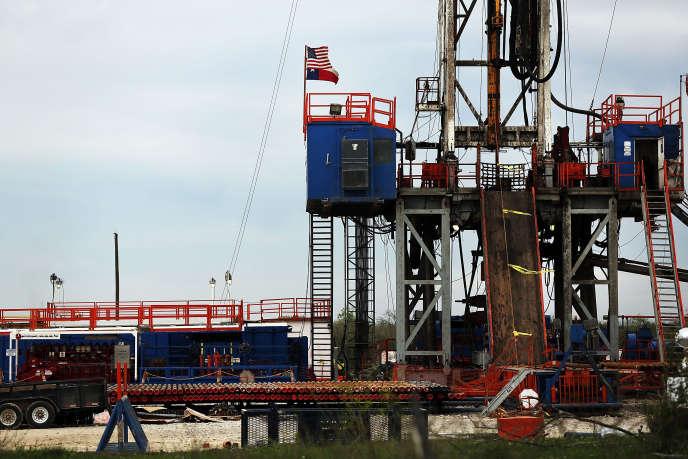 Plate-forme pétrolière au Texas.