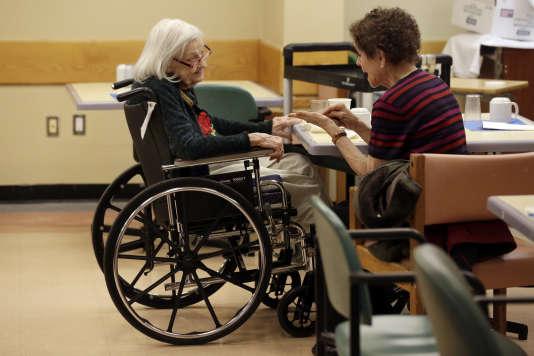 Une patiente atteinte d'Alzheimer à New York en mars 2015.