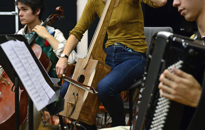 Des élèves du Conservatoire national de musique de Paris en novembre 2014.