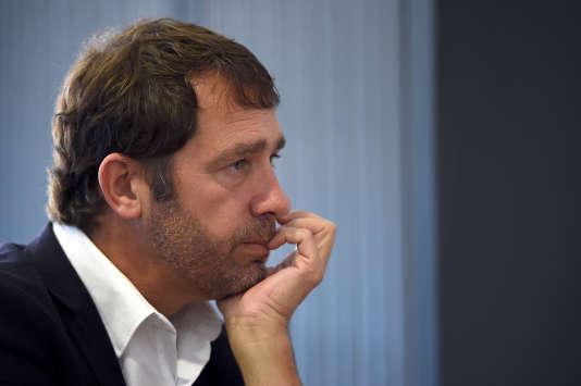 Le porte-parole du gouvernement Christophe Castaner, le 14 avril 2015.