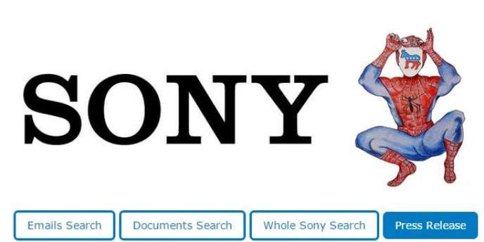 Capture d'écran du moteur de recherche The Sony Archives, mis en place par WikiLeaks.
