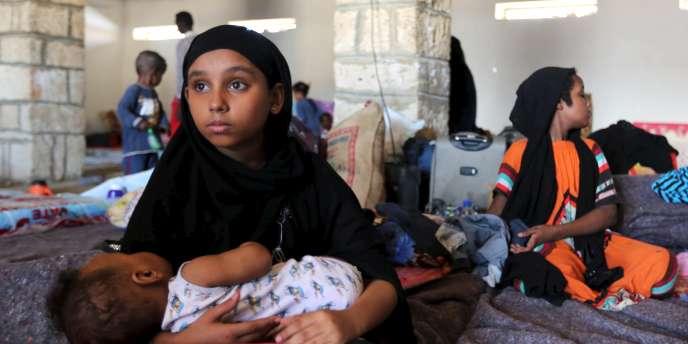 Une jeune réfugiée yéménite à Bosasso, en Somalie, le 17 avril 2015.