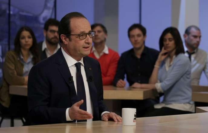 François Hollande sur le plateau du