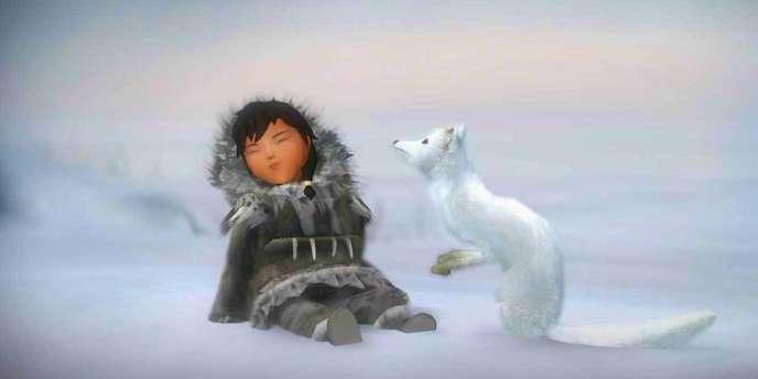 «Never Alone» met en scène une jeune héroïne inuit et un renard des neiges.