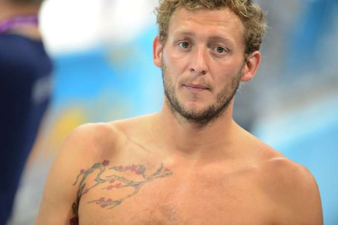 Amaury Leveaux, lors des Jeux olympiques de Londres en2012.