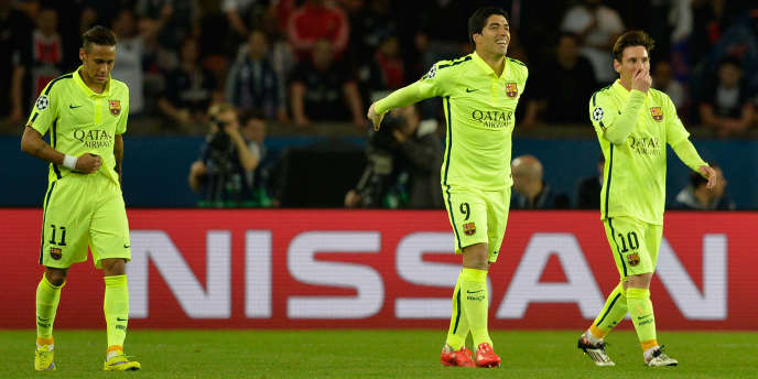 Neymar, Luis Suarez et Lionel Messi en Ligue des champions.