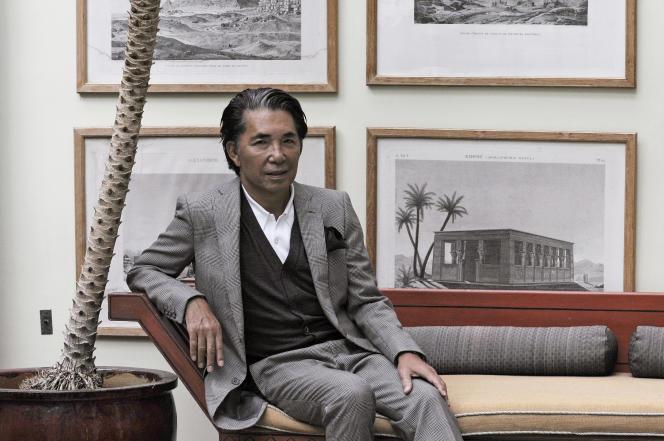 Kenzo Takada, chez lui à Paris,le 24 mars 2009.