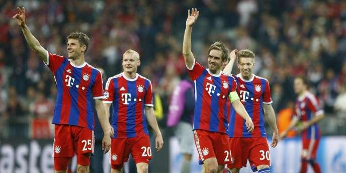 La joie des joueurs du Bayern après leur qualification face au FC Porto, le 21 avril à Munich.