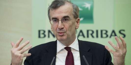 L'ancien directeur général délégué de BNP Paribas, qui a quitté ses fonctions le 30 avril, François Villeroy de Galhau, en février 2015.