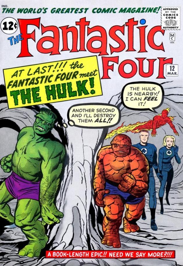Couverture du numéro 12 des «Quatre Fantastiques».