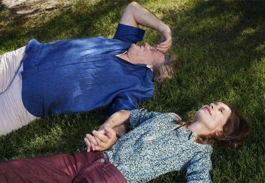 """Gérard Depardieu et Isabelle Huppert dans """"Valley of Love"""", de Guillaume Nicloux, en compétition officielle à Cannes."""