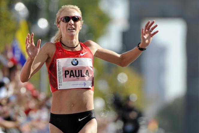 Paula Radcliffe au Marathon de Berlin en 2011.