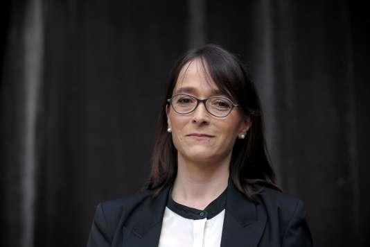 La nouvelle PDG de France Télévisions, Delphine Ernotte, le 23 avril 2015.