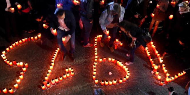 Lors d'une cérémonie de commémoration du génocide arménien à Berlin, le 23 avril.