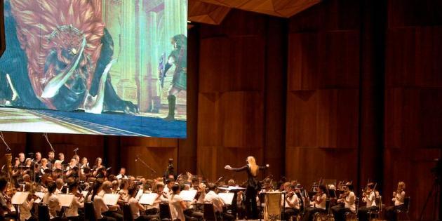"""Le concert """"The Legend of Zelda : Symphony of the Goddesses"""" arrive à Paris, l'une de ses dernières dates. En tout, il aura parcouru vingt villes dans le monde. Ici, le 17 avril dernier, au Wembley Arena à Londres."""