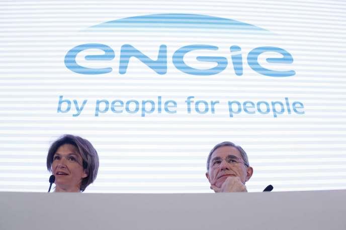 Gérard Mestrallet (à droite), qui va devenir président non exécutif d'Engie en mai, et Isabelle Kocher, future directrice générale, sont les artisans de la réorganisation de l'énergéticien