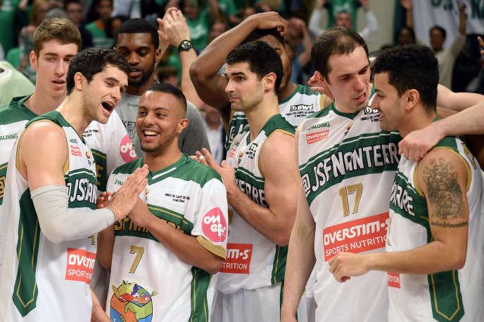 Les basketteurs de Nanterre, en mai 2014.