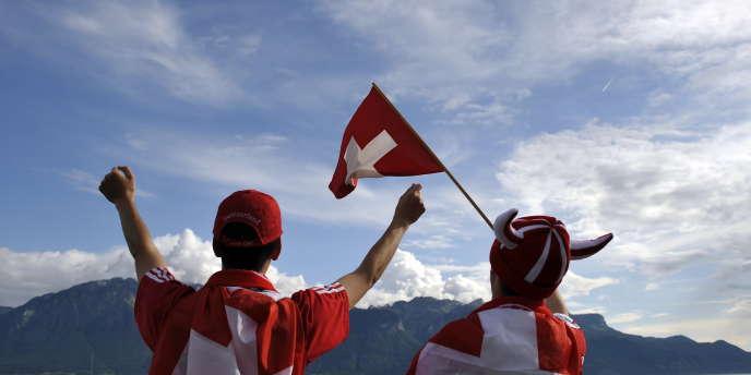 Des supporteurs suisses lors de l'Euro 2008 de football.