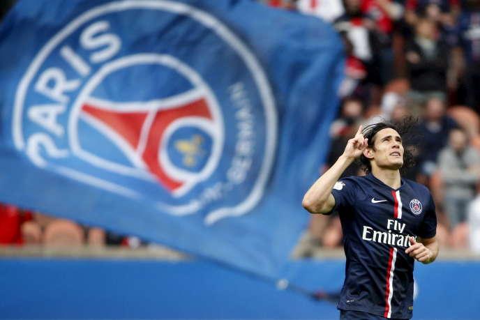 L'attaquant du PSG Edinson Cavani, auteur d'un doublé samedi 25 avril face à Lille.