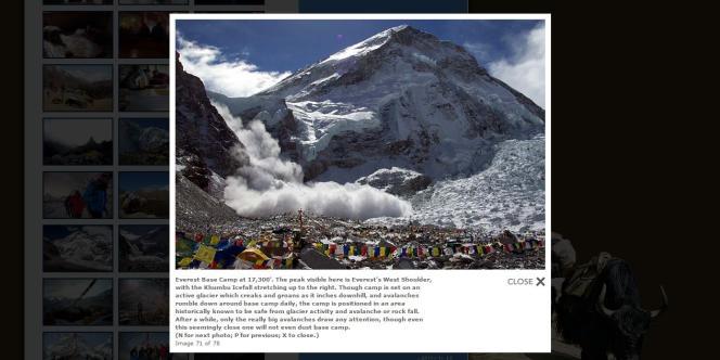 Photo originale du camp de base de l'Everest situé à 5 200 mètres d'altitude.
