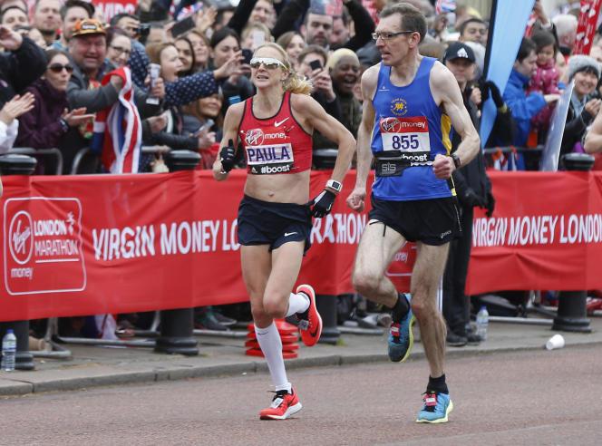 Paula Radcliffe, le 26 avril 2015, lors du marathon de Londres.