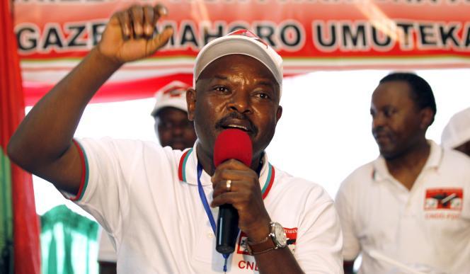 Pierre Nkurunziza, le président burundais, le 25 avril 2015.