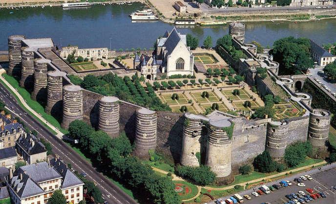Château d'Angers, vu du ciel